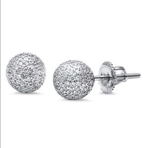 Jewelry - sterling silver 925 diaco ball stud srcew